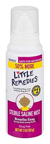 Little Remedies Sterile Saline Nasal Mist   Safe for Newborns   3 Fl Oz (Pack of 1) (50% More)