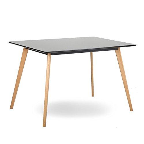 Amazon.com: ZJR - Mesa rectangular de madera maciza de 3.9 ...