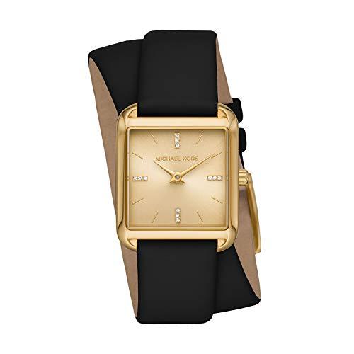 Michael Kors Women's Drew Three-Hand Gold-Tone Stainless Steel Watch MK2825