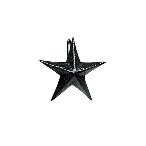 The Country House Collection Tin Black Star Shower Curtain Hook -