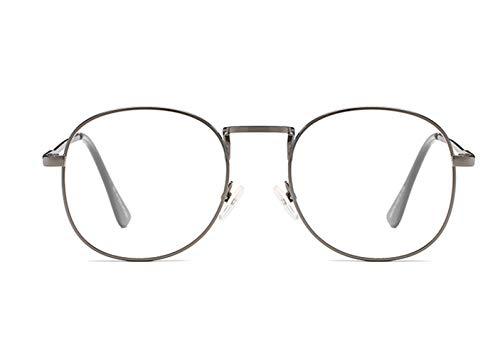 Gafas Metalizados de Claro protección vidrios Planos Anti Lentes Azul Transparentes Mujeres Moda Planos Plata Unisex gray Fatiga Gris Xeb Anti Hombres para filtroEspejuelos luz Anteojos Anteojos Silver zxIPPw5H
