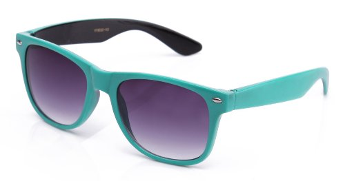 80's Classic Wayfarer Style Retro Two Tone Inside Out Comforatable Stylish Sunglasses in - Inside Sunglasses
