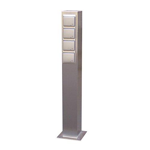 Hervorragend Hochwertige Steckdosensäule aus V2A Edelstahl für den Außenbereich  YK34