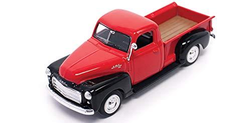 Road Signature 94255-RD/BK 1950 GMC Pickup Truck Red/Black 1/43 Diecast Model Car