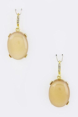 karmas-canvas-oval-gem-stone-earrings-beige