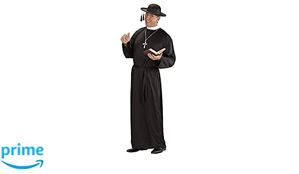 Black Felt Priests Hat Priest Vicar Vicars Cap Fancy Dress