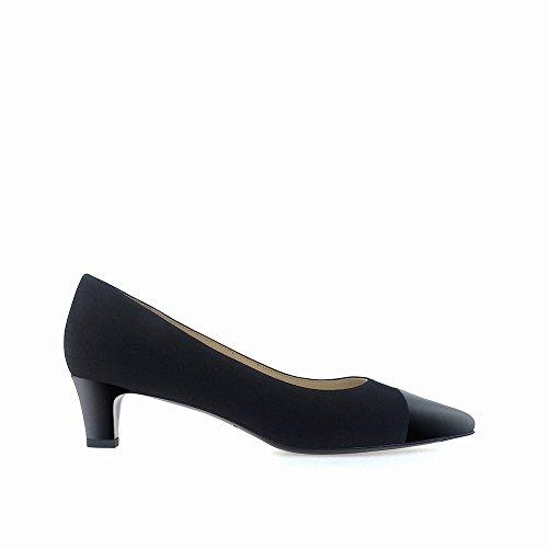 molto scarpe DHG a scarpe con bocca 35 superficiale con superficiale Nero punta Nano splicing basse qwpqP81