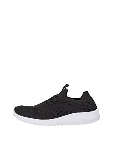 Slip Schwarz Black Knit Sneaker Damen in Bianco on w7pYqfExnz