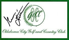 Gene Littler Autographed/Signed Oklahoma City Golf and Country Club Course Card Autographed Golf Scorecards