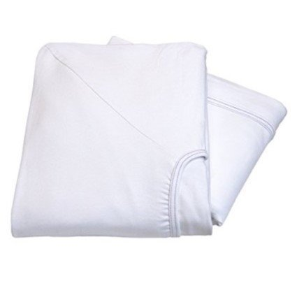 Soft Knitted Jersey Knit Sheet 36x81x14-2 Pack Head2Toe Fitted Hospital Bed Sheets