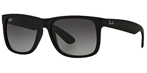 Ray_Ban Justin RB4165, Unisex Classic Sunglasses (Matte Black Frame w/Black Lens)