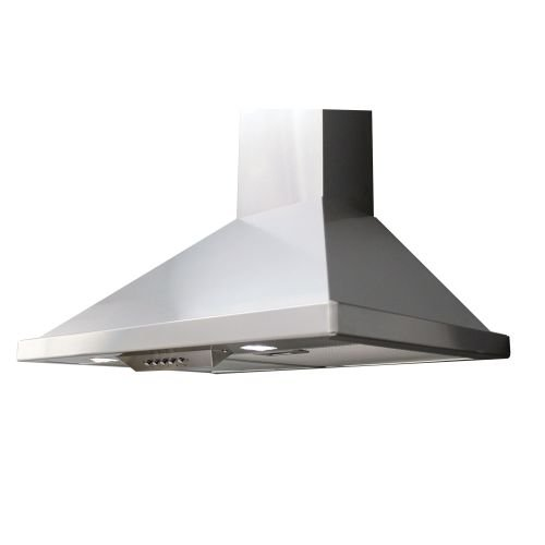 Miseno MH00136CS 750 CFM 36 Inch Stainless Steel Wall Mounted Range Hood with Du, Stainless Steel