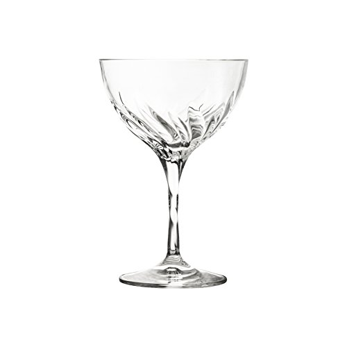 10 Strawberry Street Fluente 10 Oz Coupe Champagne Crystal Glass, Set of ()
