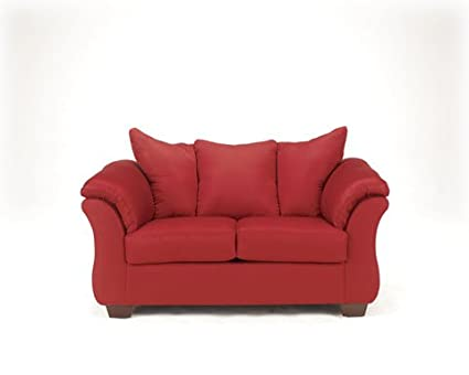 Darcy Salsa Red Loveseat By Ashley Furniture