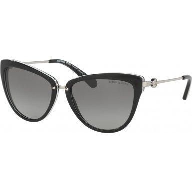 Michael Kors Women's Abela II Black/White Sunglasses