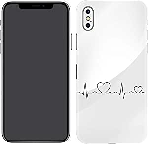 Switch iPhone X Skin Heart Beat Black Horizontal Transparent