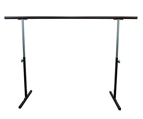 Softtouch Ballet Barre 6.5ft Portable Dance Bar - Adjustable Height 31'' - 49'' - Freestanding Stretch Barre 80'' by SoftTouch