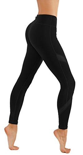 - 31uenGcLDNL - CodeFit Yoga Pants Power Flex Dry-Fit Soled and Cross Mesh Exposed Back Zipper Leggings