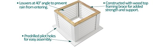 Good Directions Vinyl Coventry Louvered Cupola with Pure Copper Roof,  Maintenance Free Solid Cellular PVC Vinyl, 18'' x 24'', Quick Ship, Reinforced Roof and Louvers, Cupolas by Good Directions (Image #2)
