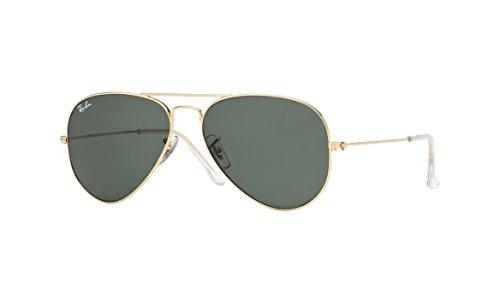(Ray-Ban Men's 0rb3025144 58aviator Large Metal Aviator Sunglasses, Shiny Gold, 57 mm)