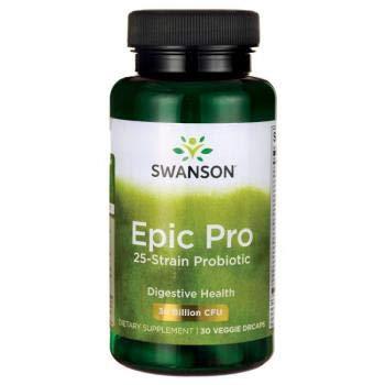 Swanson Probiotics Epic Pro 25-Strain Probiotic, 30 Vegetarian Capsules