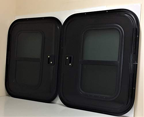 - Vintage Technologies WD23/24 RV Teardrop Driver's/Passenger's Side (Set) Black Face Mount Foam Core Trailer Door 26
