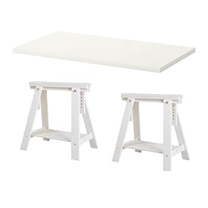 beautiful ikea table linnmon blanc x trteaux tagre pieds hauteur et angle rglables table dessin. Black Bedroom Furniture Sets. Home Design Ideas