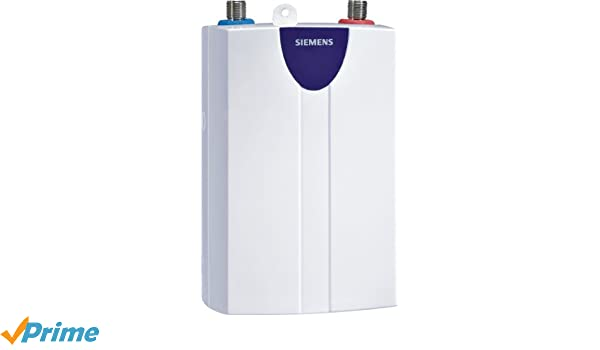 Siemens DH05101 Vertical Sin depósito (instantánea) Color blanco calentadory - Hervidor de agua (Vertical, Sin depósito (instantánea), Interior, Eléctrico, ...