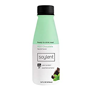 Well-Being-Matters 31uesDWSwkL._SS300_ Soylent Mint Chocolate Plant Protein Meal Replacement Shake, 14 fl oz, 12 Bottles - Packaging May Vary