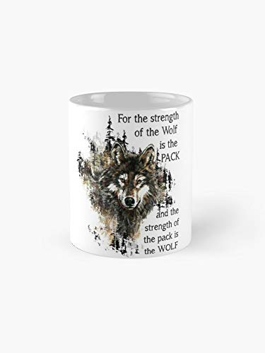(Wolfpack Family Inspirational Quote 11oz Mug - Great gift for family and friends.)