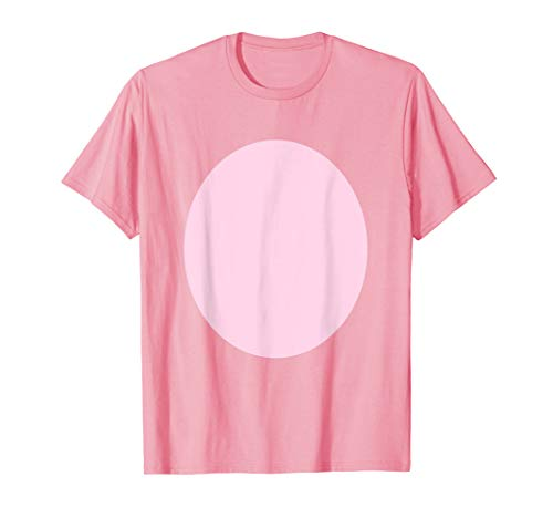 Pig Belly Pink Fur Barnyard Animal Halloween Costume Shirt ()