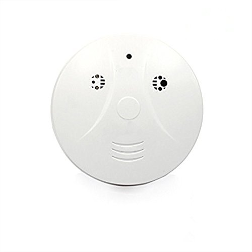 Komaly Hidden Camera Spy Camera Wireless Ip Smoke Detector Camera 1080P Video Recorder Security Cam Clear   White
