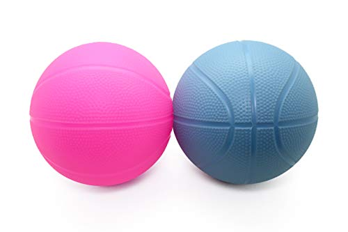 Toddler Kids Replacement Basketball 2 Pack (Blue/Pink)