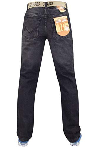 Gaffer Leg Straight Jeans Homme Noir 8q4TA8z