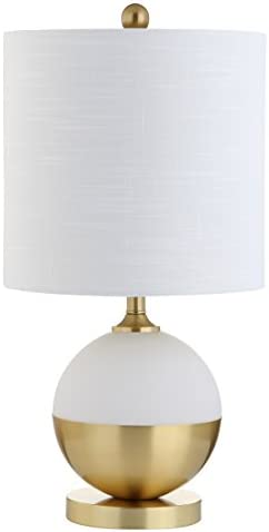 "JONATHAN Y JYL5005A Carr 23.5"" Ceramic/Metal LED Table Lamp Modern,Contemporary,Glam for Bedroom, Living Room, Office, College Dorm, Coffee Table, Bookcase, White/Brass"