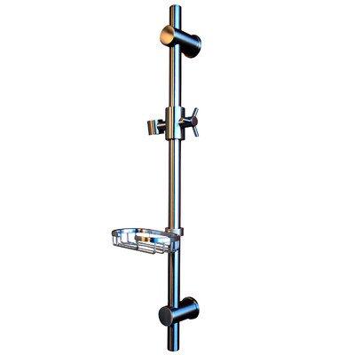 Soap Dish Shower Bar Mount - Pulse 1010-BN Adjustable Slide Bar BN 28 Shower Panel Accessory in Brushed Nickel
