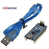 Robocraze RC-A-310 Improved Version Arduino Nano V3 for USB Cable Soldered Pins