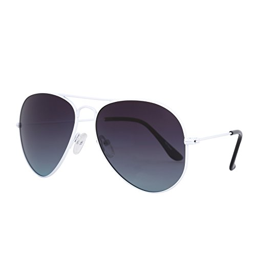 ROLF ROSSINI Aviator Polarized Sunglasses for Kids (White, Grey - Glasses Grey