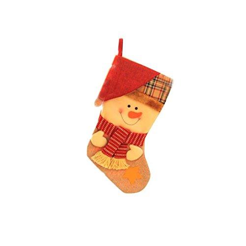 Sock Monkey Plus Size Adult Unisex Costumes (Oksale Merry Christmas Red Socks Gift Bag Santa Claus Snowman Elk Xmas Ornament Sock Decoration (C))