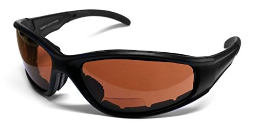Calabria 23BF Bi-Focal Safety Glasses ''Sportster'' UV Protection in Copper (+2.00) by Calabria