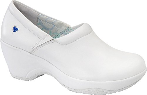 Nurse Mates Women's Bryar, White, 6 B - -