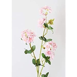 "Artificial Flowers Ruffle Azaleas in Pink - 30"" Tall 44"