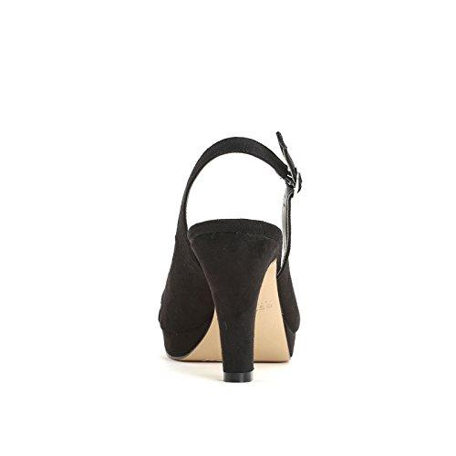 ESTRADÀ by Scarpe&Scarpe - Sandalias altas con punta alargada y plataforma, con Tacones 8 cm Negro