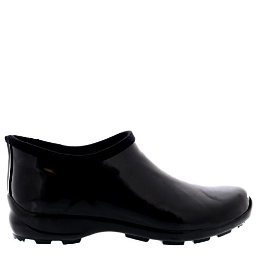 Zapato Lluvia De Caucho Mujer Bota Negro Goma Glosar Nieve Botas Jardín Welly tq6BUXT