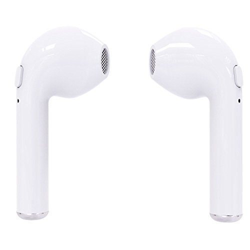 s Stereo Earbuds, Bluetooth V4.2 Sports Headphones Mini In-Ear Headsets for iPhone & Android Smartphones Earphone arpiece Sweatproof Noise Cancelling (White) (Jack Wood Gallery)