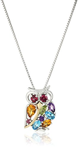 xpy-sterling-silver-and-14k-yellow-gold-mix-semi-precious-owl-pendant-necklace-18