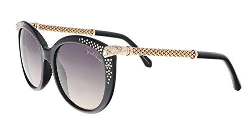 Roberto Cavalli RC979S Tania Sunglasses 57 01B Shiny Black Gradient ()