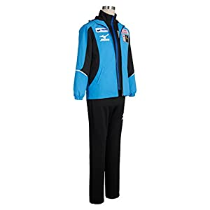 Costhat High School Sportswear Japanese Team Uniform Coat Top Jacket Pants Cosplay Costume (Male:Small, Blue Top+Pants)