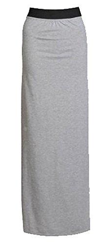de Grise gitanes lastique les 42 longueur taille de long couleurs lot d't 36 jersey maxi jupe jupe toutes plaine dames loisirs nouvelles Mlanger MIXLOT femmes vtements H47qxpHX