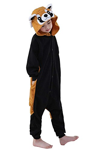 Unisex Children Raccoon Pyjamas Halloween Onesie Costume (,4-Height 38-40